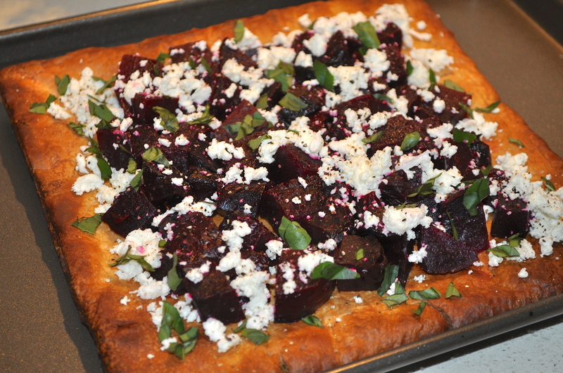 Roasted Beetroot And Goats Cheese Tart