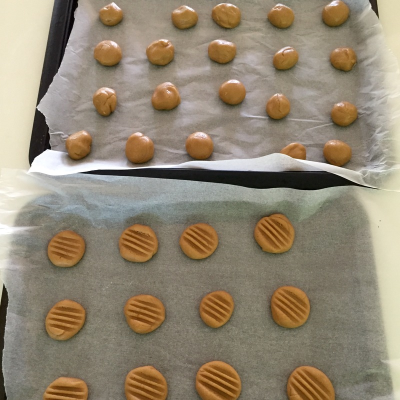 Roll, press and place on the baking tray