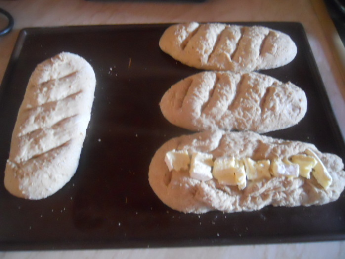 rustic mini baguettes, dough, bread