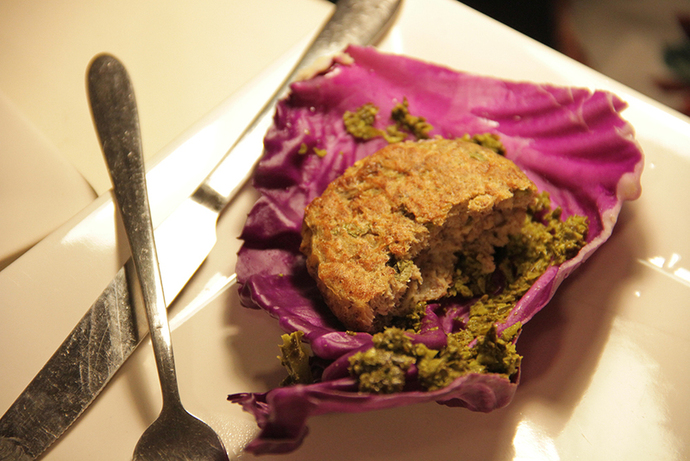 Baked healthy salmon patties