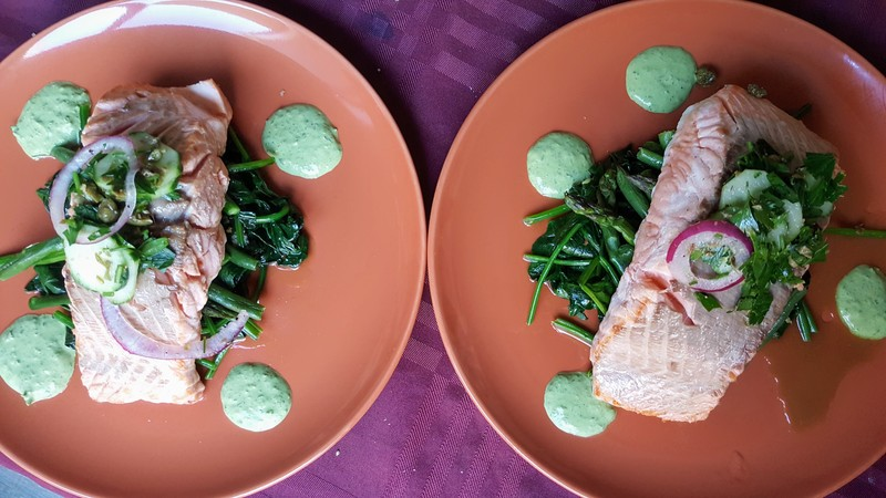 Cucumber, Red Onion, Parsley and Caper Salad