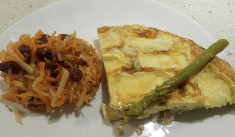 salmon,and,camembert,pie  - Salmon and Camembert Pie with Apple Juice Carrot Salad