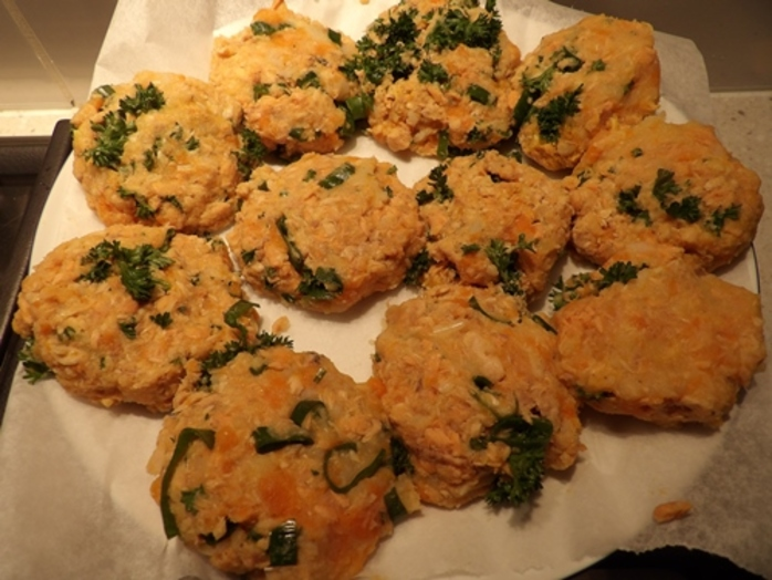 Curried Red Salmon Patties With Reibekuchen Recipe Recipeyum