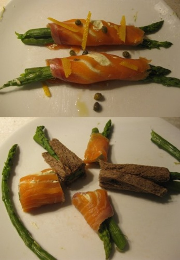 salmon,spears,and,asparagus,twists,finger,food