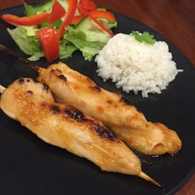 Satay Chicken With Coconut Rice  - Satay Chicken With Coconut Rice