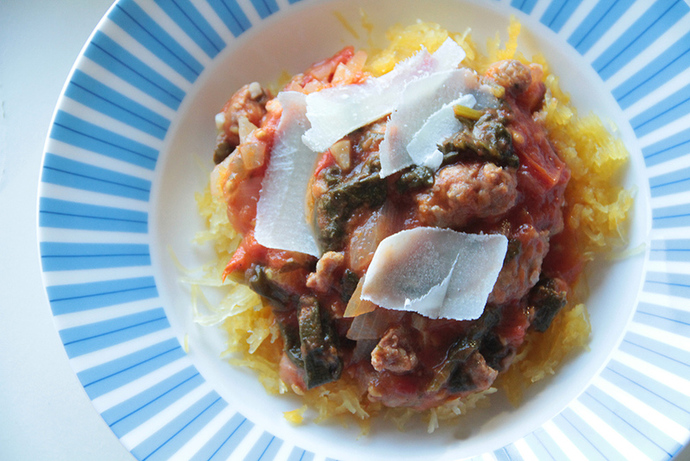 Sausage ragu, hearty winter pasta dish