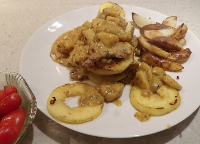 scallopini,with,apple,cream,sauce