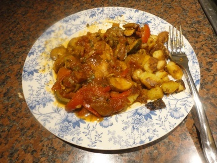 Serve the Chicken Cacciatora with Rauste Potatoes, rice or pasta
