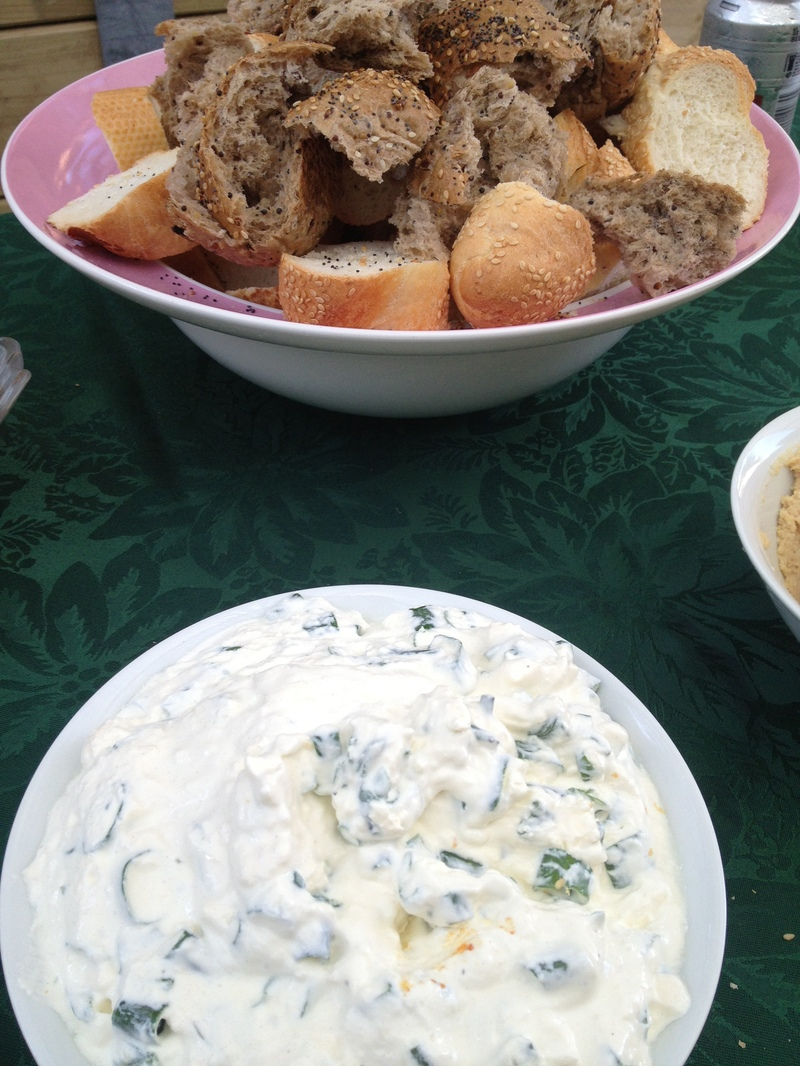 Serving Suggestion.  - Spring Onion Dip