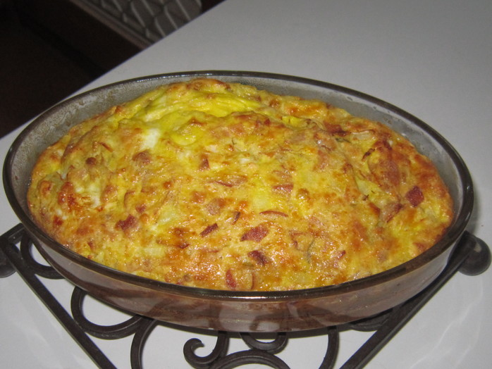 Simple Self-Crusting Quiche for Two
