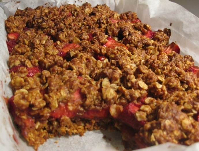 slab,or,strawberry,oat,slice