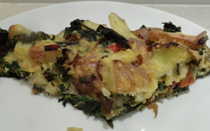 sliced,potato,frittata