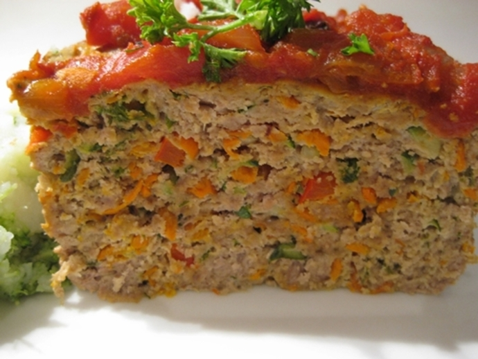 turkey,meatloaf,with,home,made,tomato,sauce