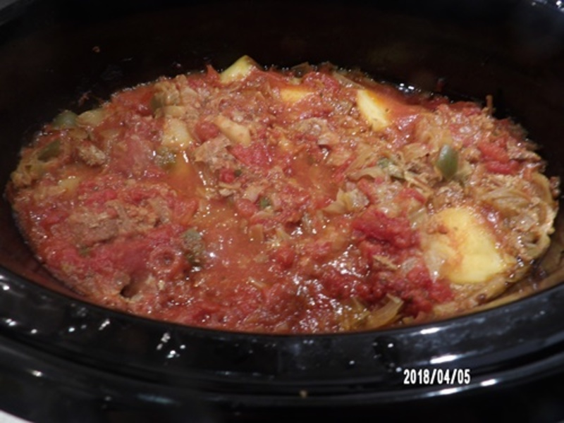 Getting,ingredients,ready,for,slow,cooker,cabbage,casserole