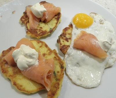 Brunch Mashed Potato Cakes with Smoked Salmon Recipe - RecipeYum