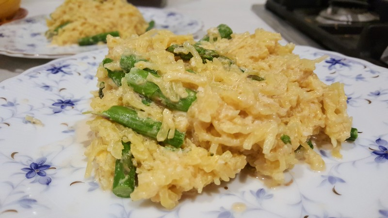 Spaghetti squash with tahini