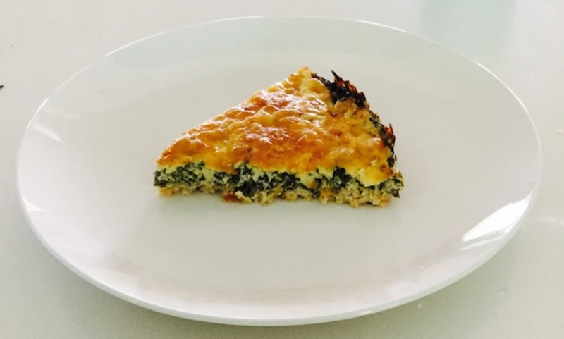 Spinach And Cheese Quiche filling  - Flourless Spinach And Cheese Quiche
