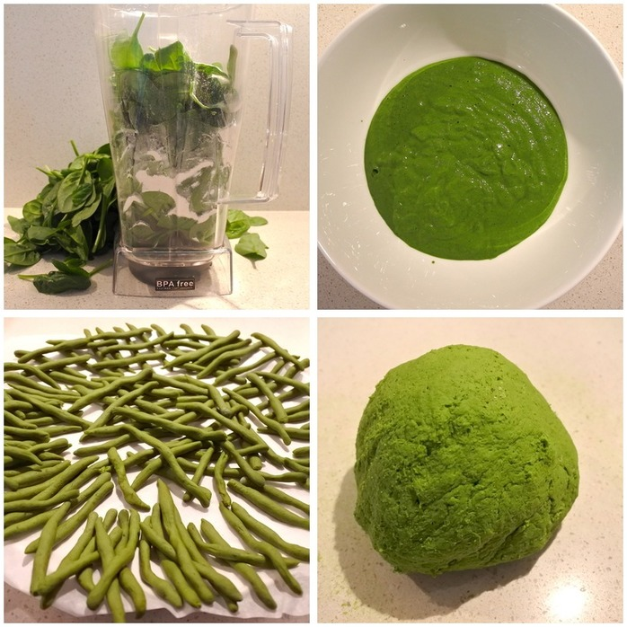 Spinach Pici Pasta  Montage