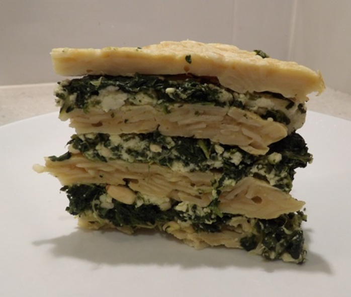 spinach,ricotta,pine,nut,noodle,pancake,torte
