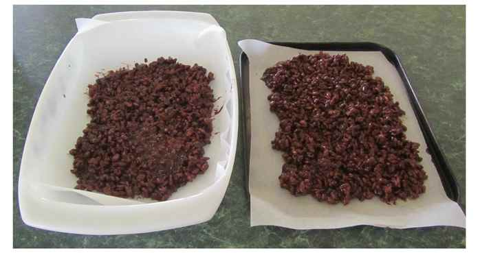 Chocolate Crackle mixture