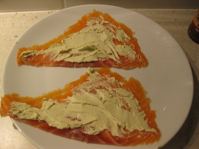 spreading,cream,cheese,for,salmon,spears