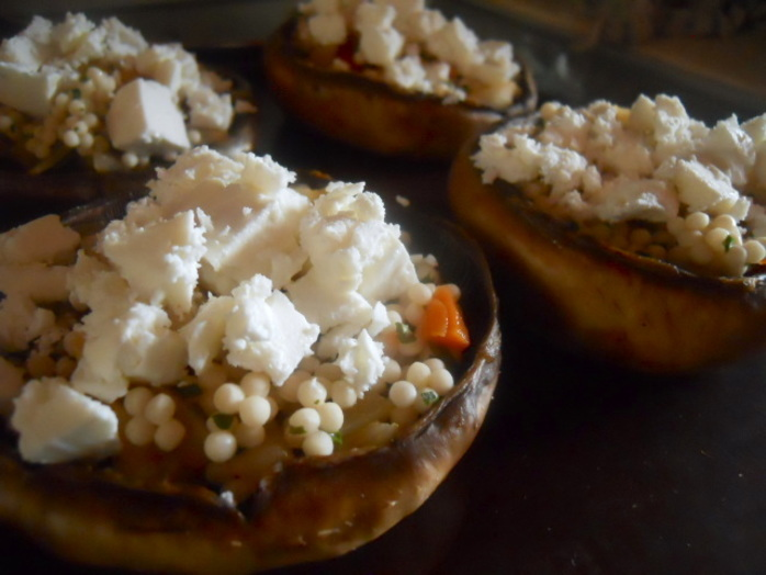 stuffed mushrooms, coucous