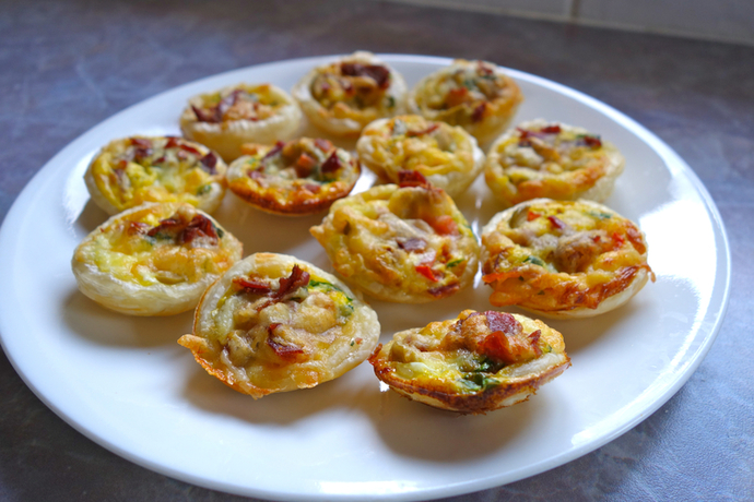 Tartlets on plate