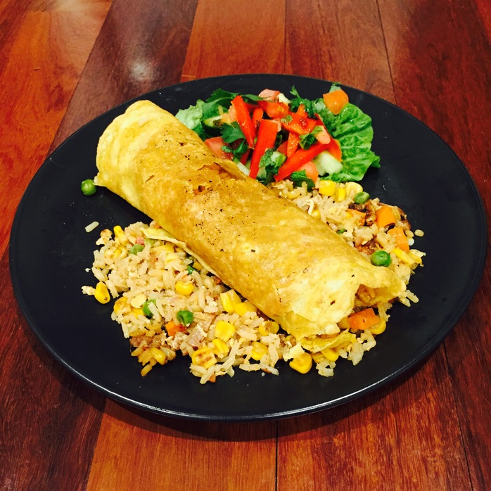Thai Omelette And Fried Rice