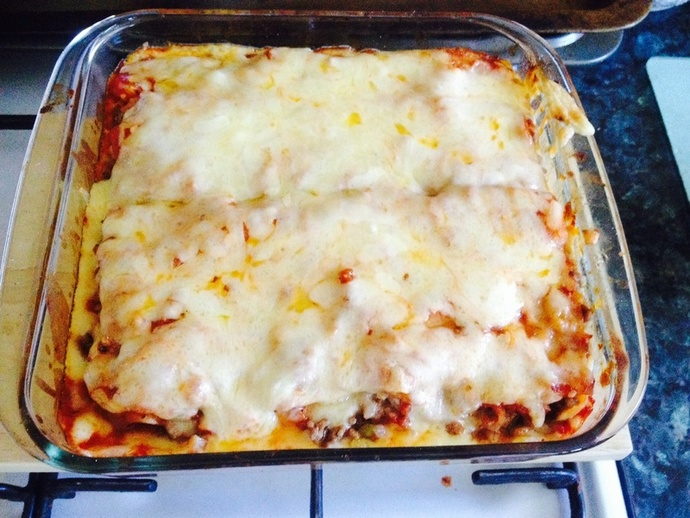 The finished lasagne