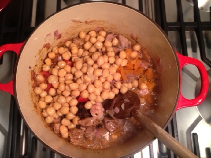 tomato lamb tagine moroccan chickpeas easy dinner