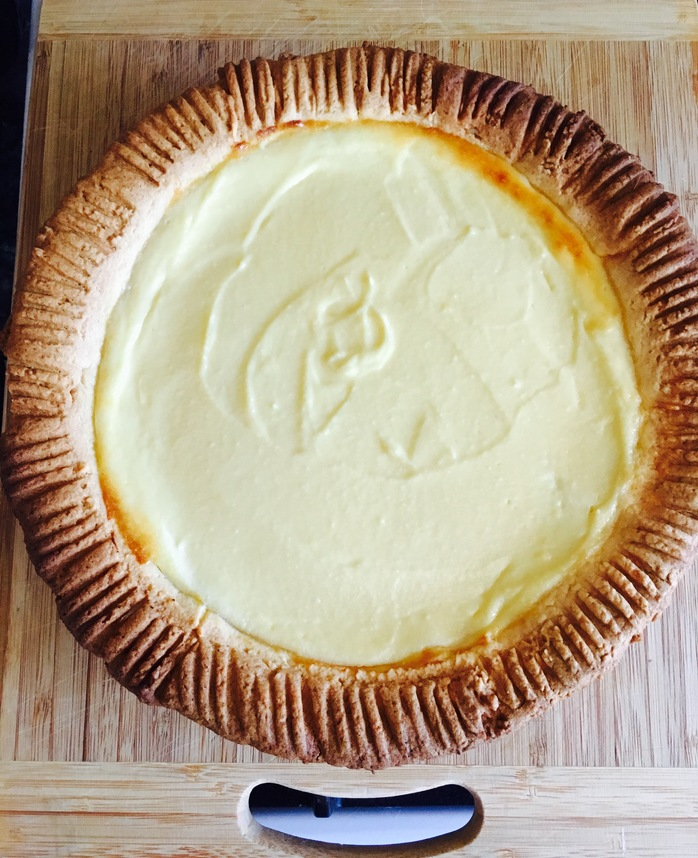 Pastry in the pie dish
