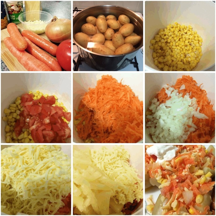 Tropical Boiled Potatoes Montage