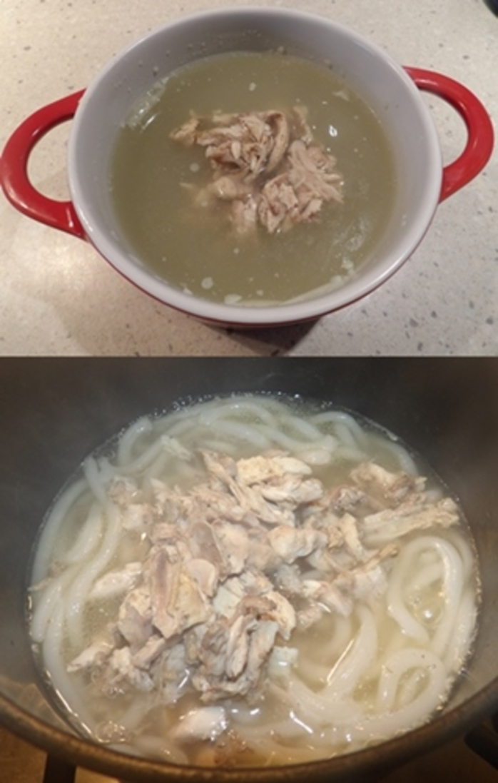 chicken,soup,with,chicken,pieces,and,thick,noodles