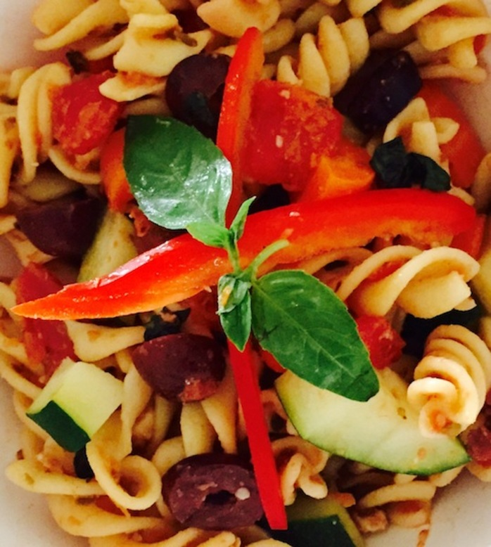 Vegetable And Kalamata Olive Pasta