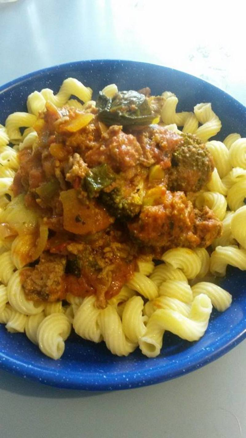Vegetable and Lamb Bolognaise with Pasta