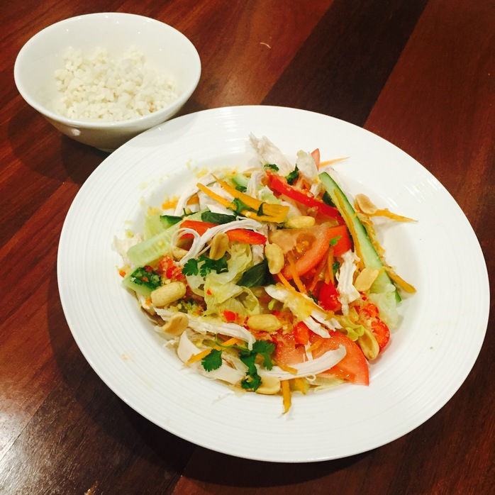 Vietnamese Chicken Salad With Lemongrass Rice