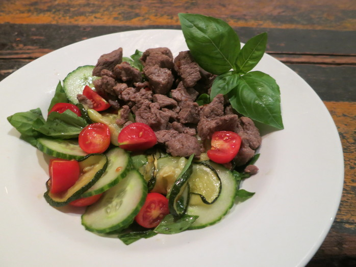 Warm Lamb and Zucchini Salad