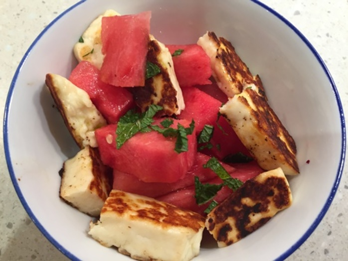 watermelon,and,haloumi,salad