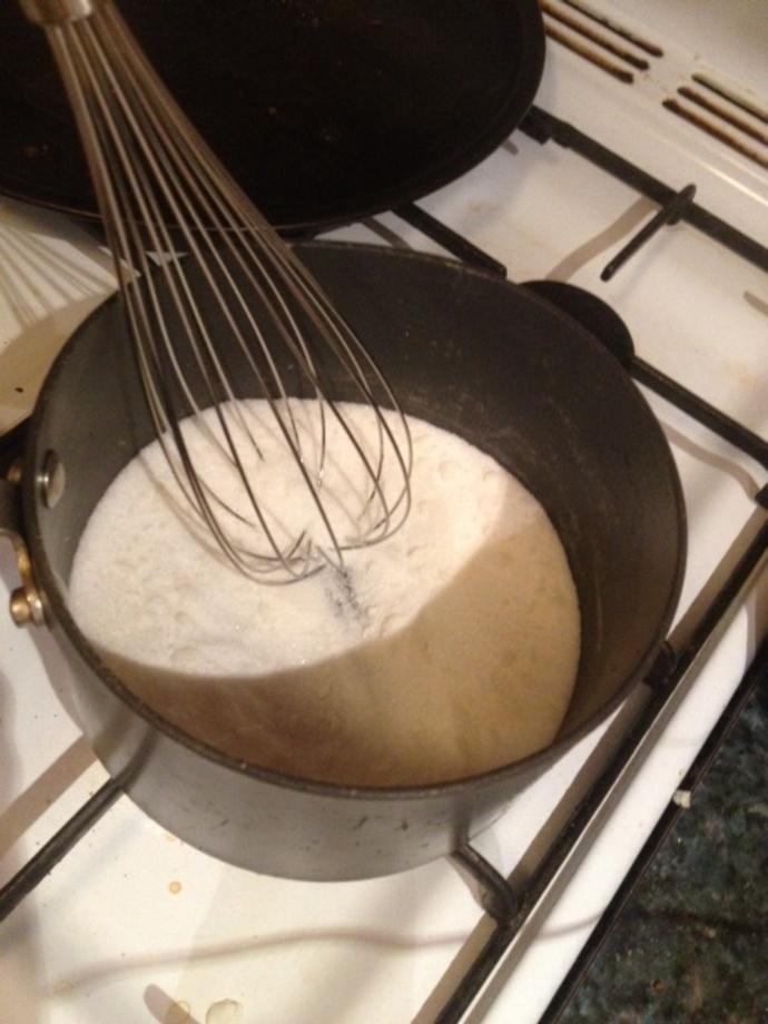 Whisking sugar