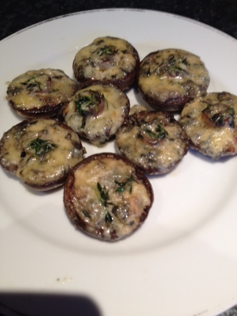 Grilled Mushrooms with Blue Cheese