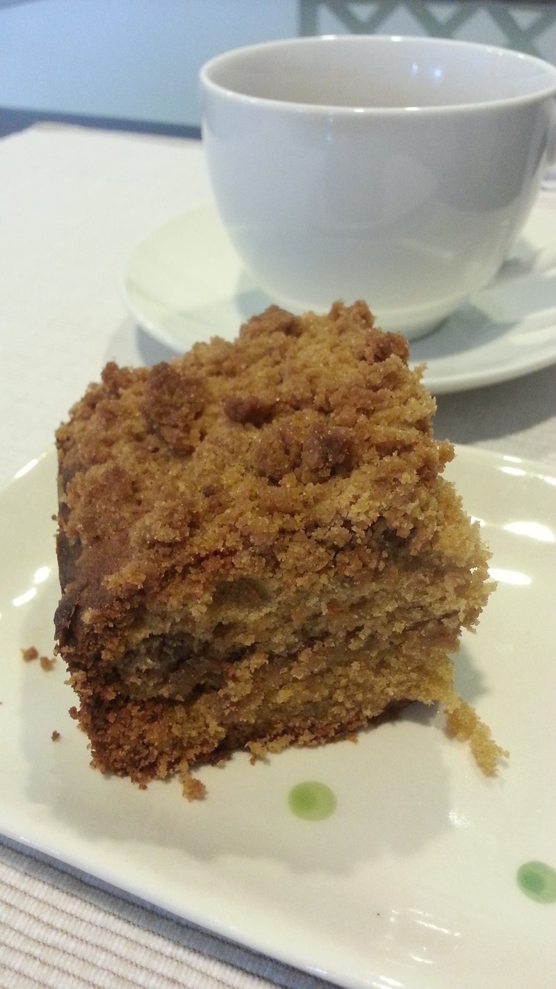 Spiced Sour Cream Coffee Cake