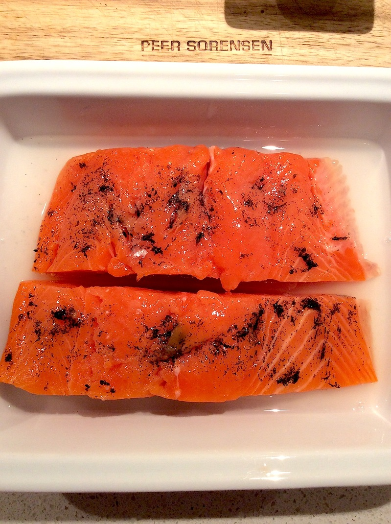 Cured Salmon with Vanilla