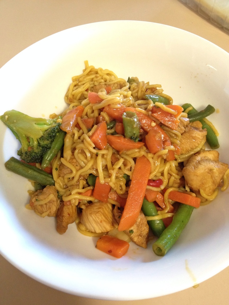 Finished product  - Easy Chicken Stir Fry
