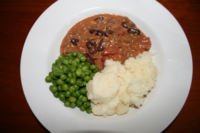 Great served with mashed potato and peas