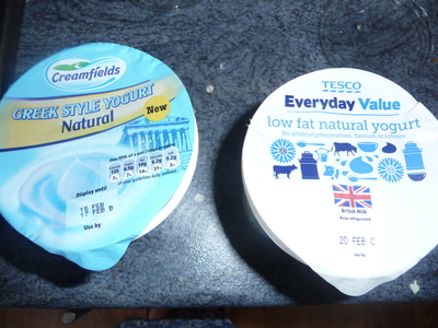 Greek yogurt, natural yogurt