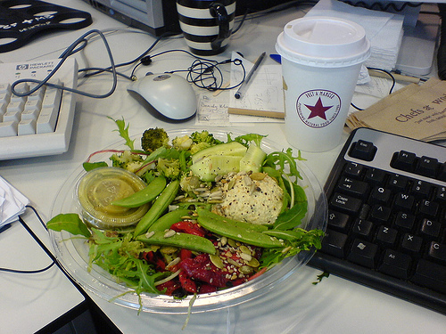 Healthy lunch, office lunch, desk lunch