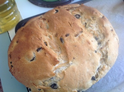 Home Made Olive and Herb Bread