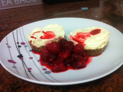 Served with Raspberries
