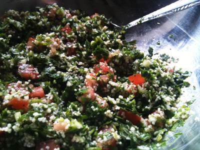 Tabouli, parsley, mint, tomato, shallots