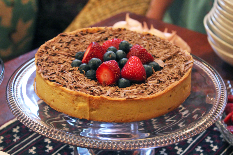 Tarte Bavaroise au Chocolat, Chocolate Bavarian Tart, chocolate tart, chocolate and berry tart, chocolate, dessert, cold set desserts, chocolate mousse tart